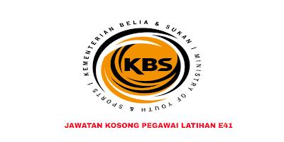 Permohonan Jawatan Kosong Pegawai Latihan E41 2019