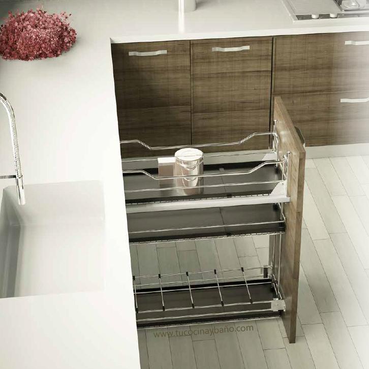 Botellero extraible mueble H80 | tu Cocina y Baño