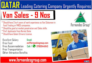 Van Sales Requires in Qatar