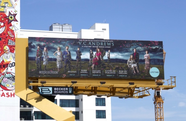 VC Andrews Book to Screen Lifetime movie event billboard