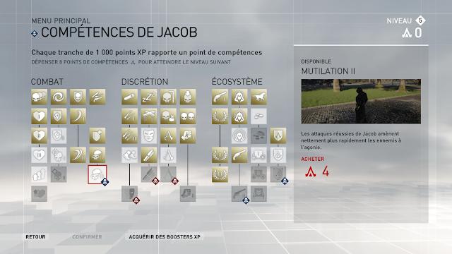 Arbre de compétence Assassin's Creed Syndicate