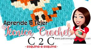 Cómo tejer crochet en técnica C2C  / Tutorial