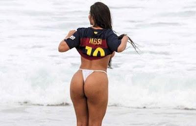 Suzy Cortez, the Brazilian fanatic for Barcelona
