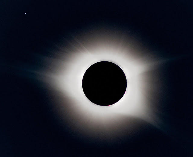 solar eclipse corona & prominences