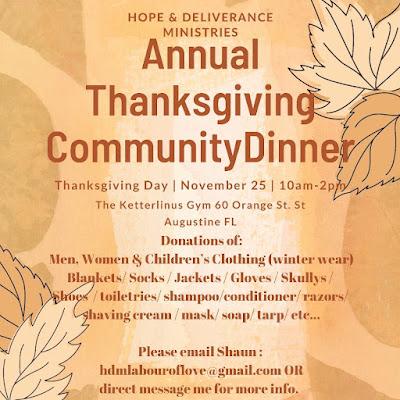 Thanksgiving Community Dinner St. Augustine Florida