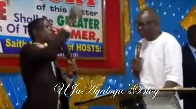 VIDEO: Fayose mounts the pulpit to 'preach the gospel'