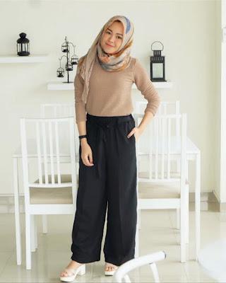 Cewek manis dan seksi dengan celana JIlbab dan Kulot