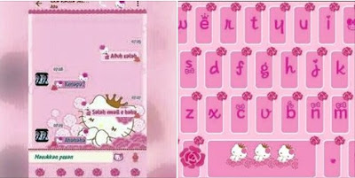 BBM Mod Hello Kitty Flower Pink