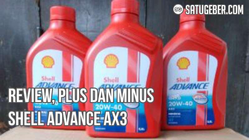 foto botol oli Shell advance AX3