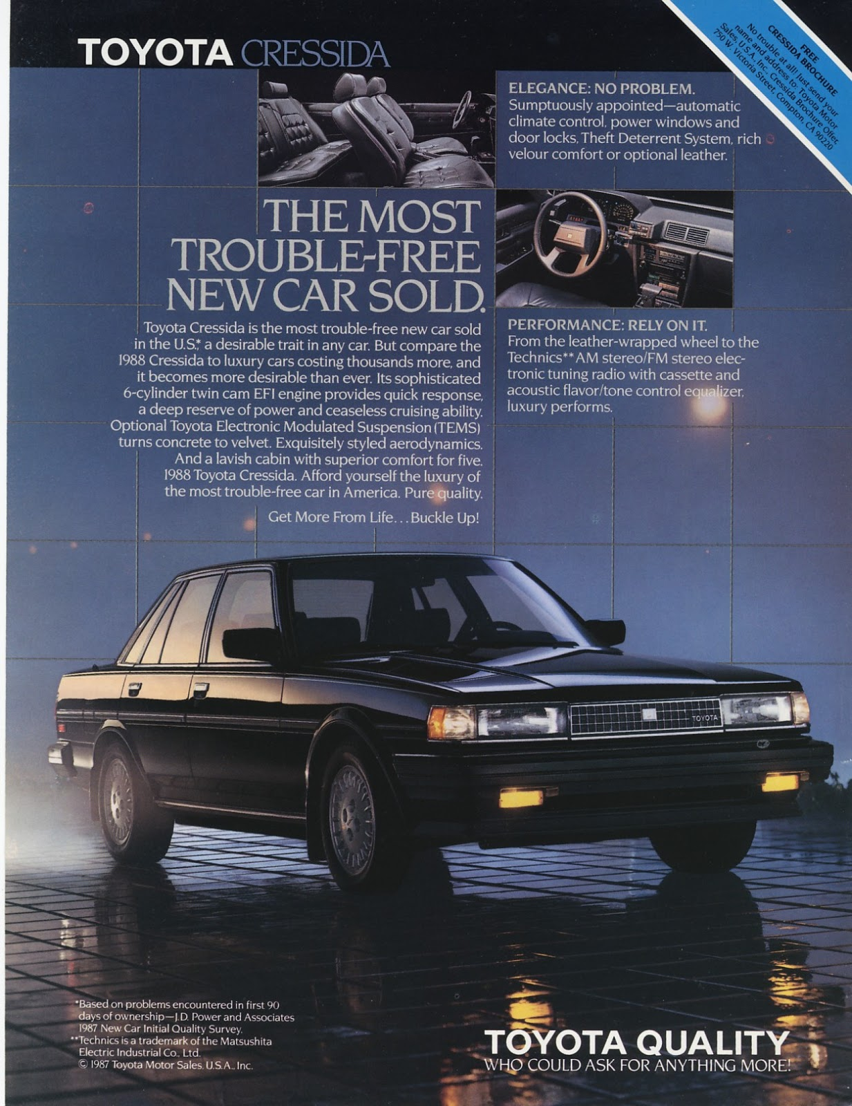An ad for the 1988 Toyota Cressida ...