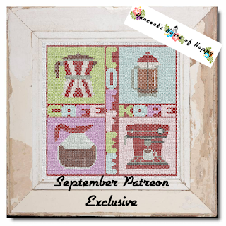 Full Coverage Cross Stitch Pop Art Coffee Sampler
