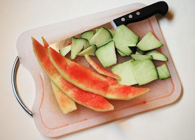 Ecorces de pastèque confites