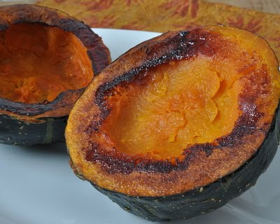 Acorn Squash Roasted Face Down