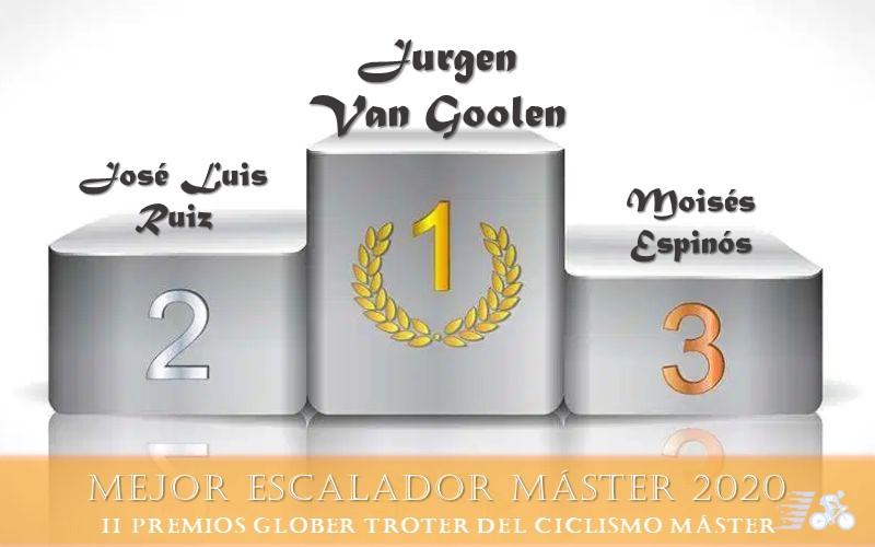 Premio y finalistas al Mejor Escalador Máster 2020