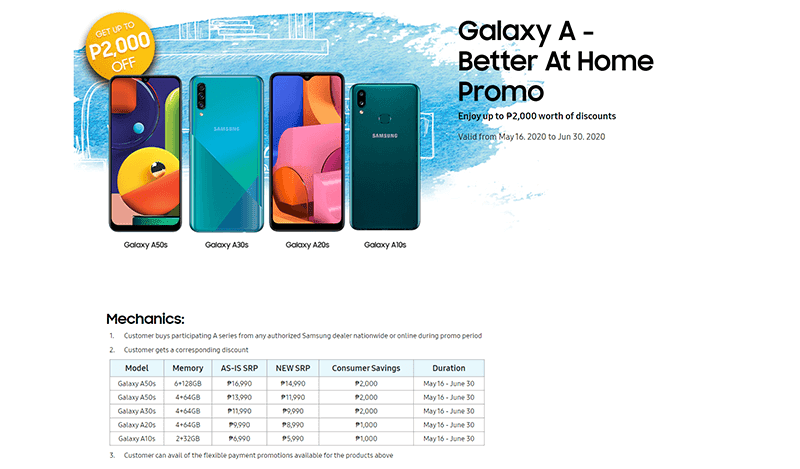 Galaxy A - Better At Home Promo Mechanics