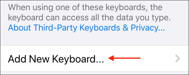 انقر فوق إضافة لوحة مفاتيح جديدة
