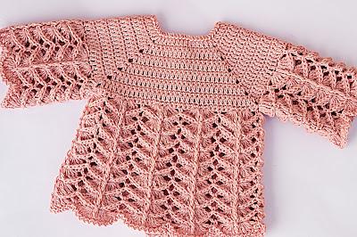 3 - Crochet IMAGEN Chambrita rosa muy fácil y sencilla. MAJOVEL CROCHET