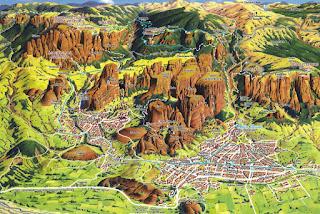 Mapa de Meteora.
