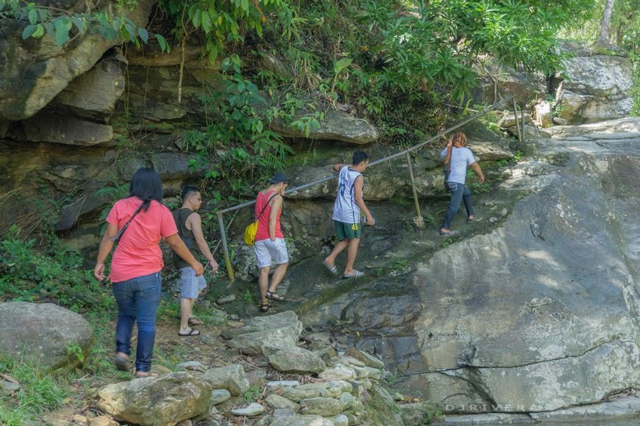 Trekking upon boulders