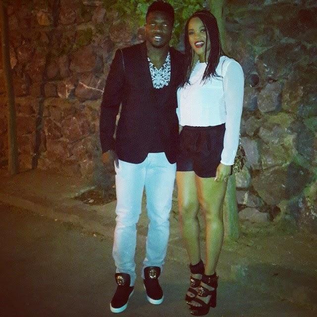 Stylish Couple-Adaeze & Joseph Yobo turn up the heat in Matching Versace (Photos)
