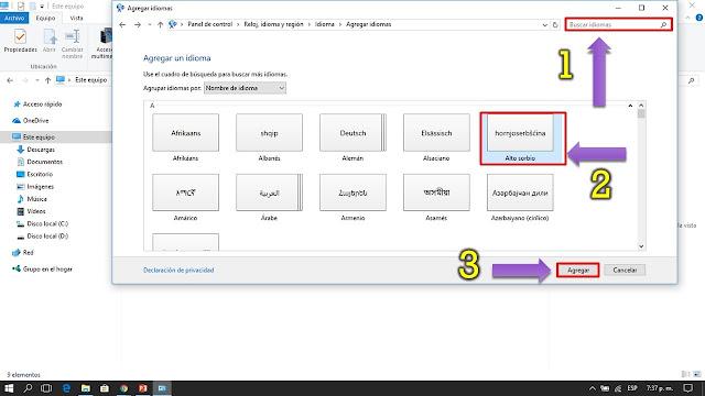 los idiomas mas instalados en windows son ingles y español pero tambien podras instalar otros idiomas