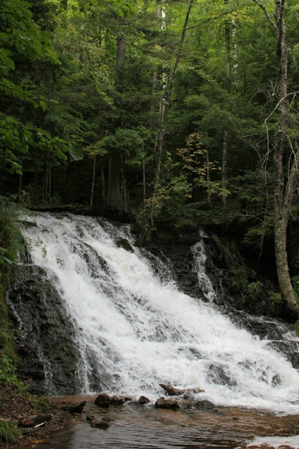 Waterfall in Marquette County, Michigan