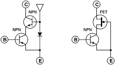 hybrid-cascaded-transistor-circuit