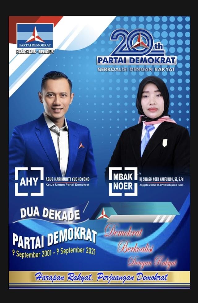 DPC Partai Demokrat Tuban Gelar Syukuran HUT ke-20 Doakan AHY jadi RI 1