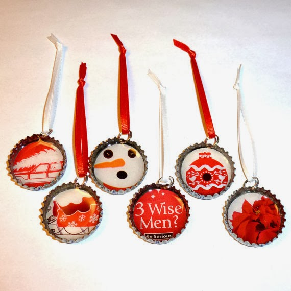 22 UPCYCLED CHRISTMAS ORNAMENTS