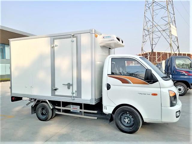 Xe thùng 1 tấn đông lạnh
