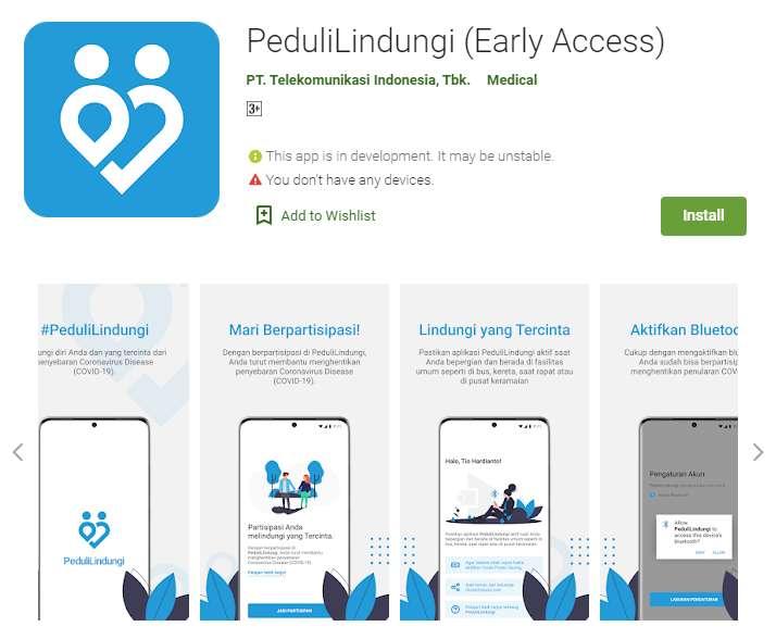 Aplikasi PeduliLindungi di Google Play Store (play.google.com)