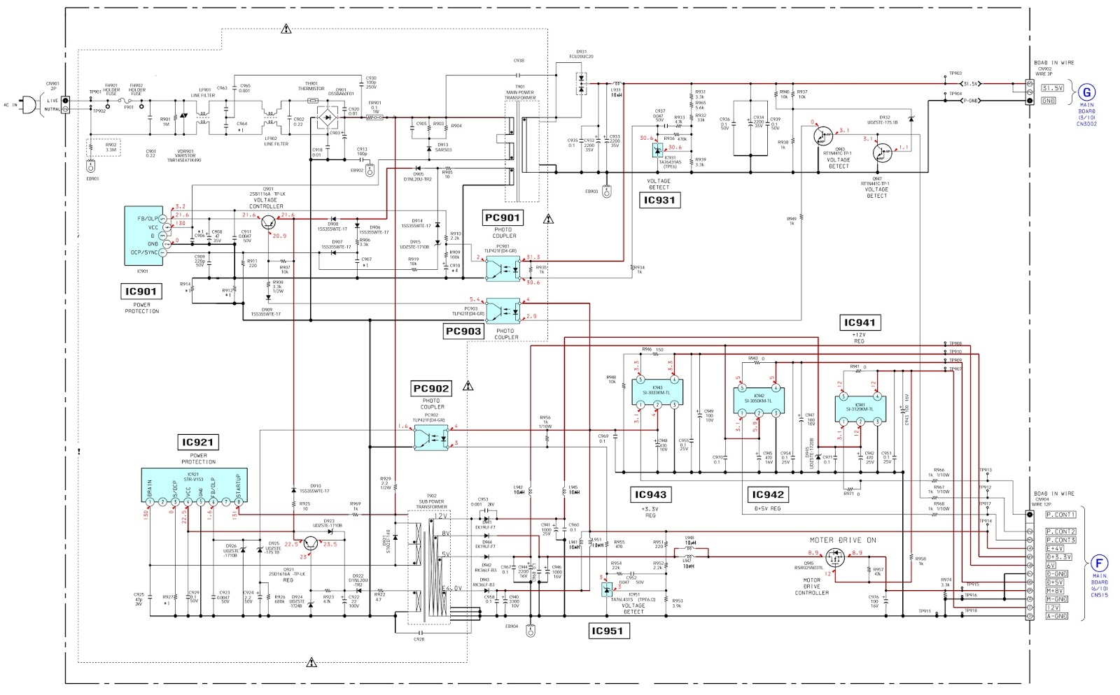 7 1 Home Theater Circuit Diagram 2002 Ford Escape Engine Sony Dav Dz120k Main Power Smps Schematic
