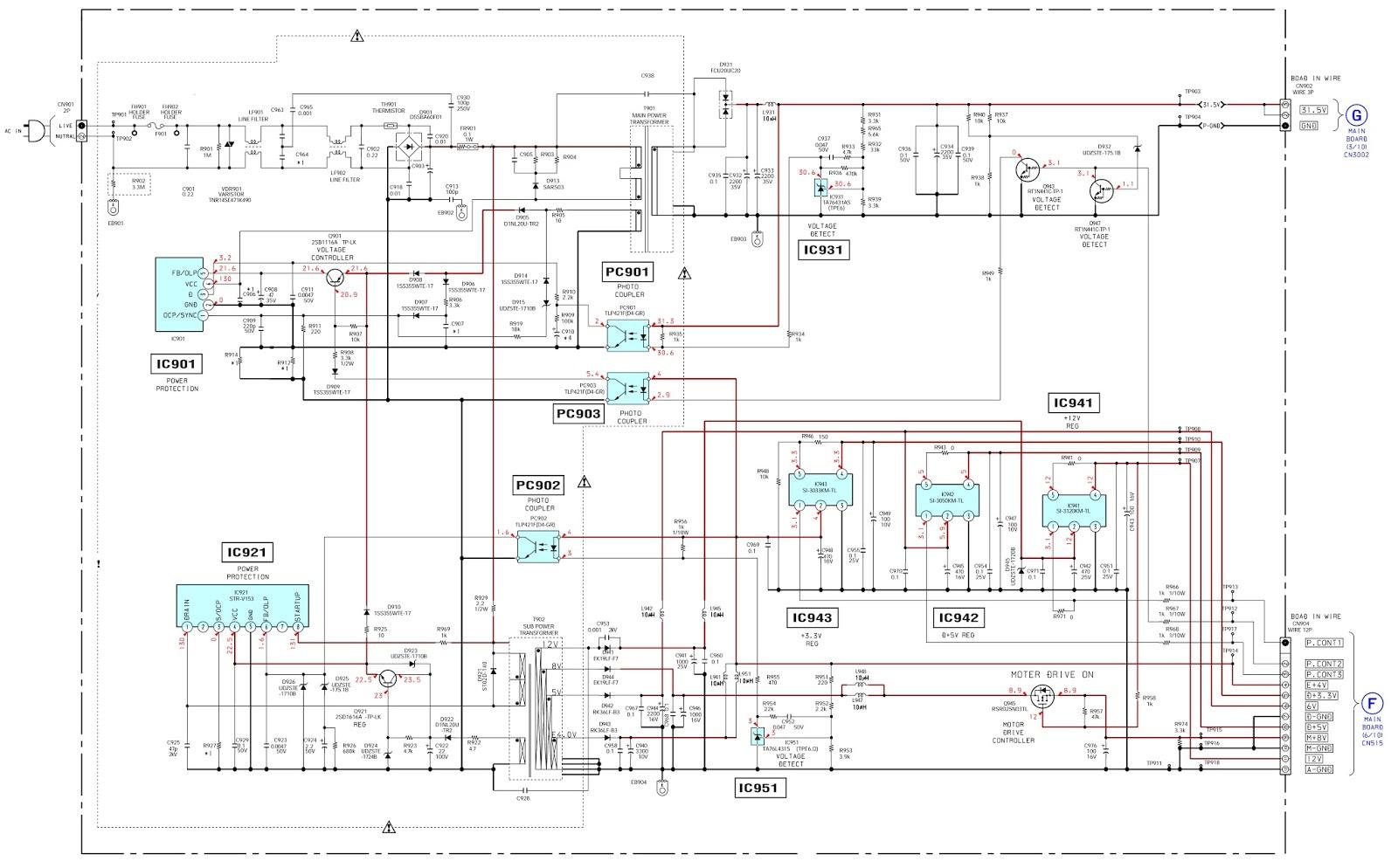 SONY DAV DZ120K  MAIN POWER [SMPS]  SCHEMATIC (Circuit