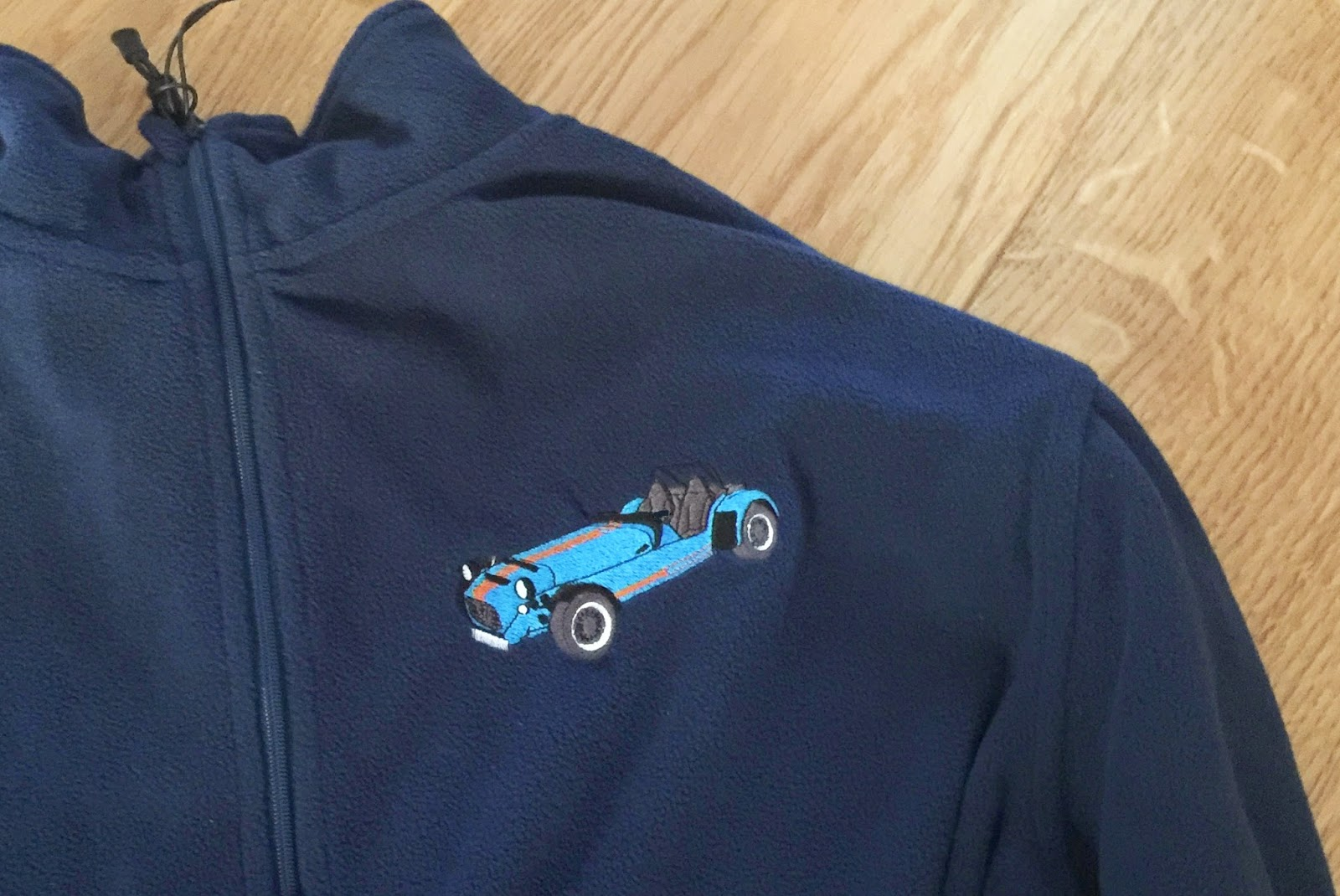 My new blatting fleece, also with embroidered Caterham