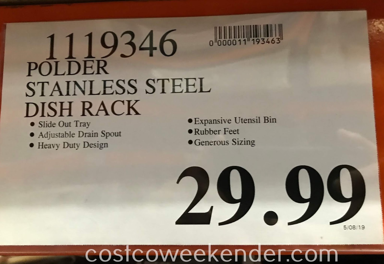 Deal for the Polder 4-piece Stainless Steel Dish Rack Set at Costco