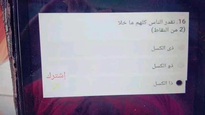 امتحان لغة عربية تجريبي لامتحان 19 مايو للصف الاول الثانوي 0%2B%252814%2529