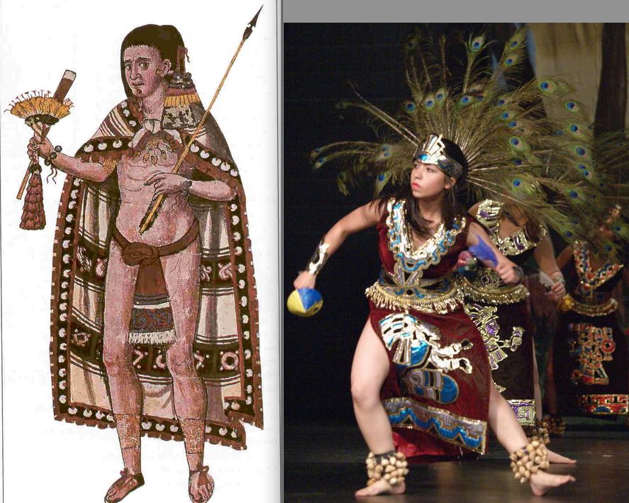ancient aztec clothing - 887×710