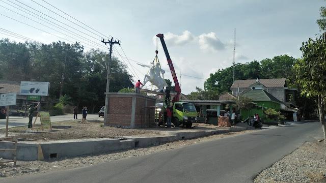 Ikon Pangeran Diponegoro Dipasang Di  Koramil 12/Manisrenggo