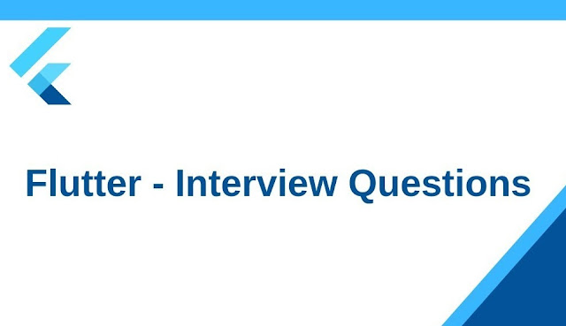 Flutter interview questions