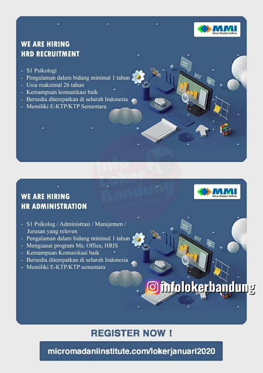 Lowongan Kerja Micro Madani Institute Bandung Februari 2020