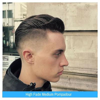 High Fade Medium Pompadour, Model Rambut Pria, Model Rambut Terbaru,