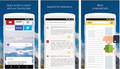 internet yandex browser app