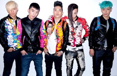 Foto de BigBang posando para sus fans