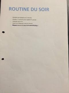 Journal de bord de la méthode FlyLady : routine du soir