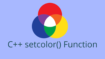 C++ setcolor() - Set Color of Text and Object