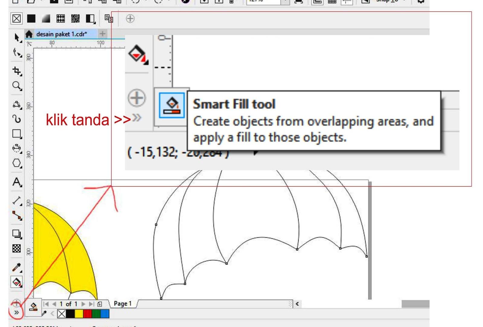 Memanfaatkan Fungsi Smart Fill Tool Di Coreldraw X8 Untuk