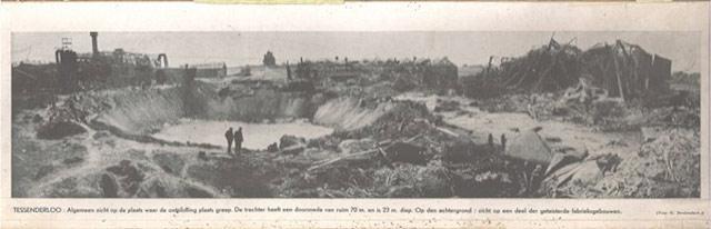 The crater at Tessenderlo, Belgium, 29 April 1942 worldwartwo.filminspector.com
