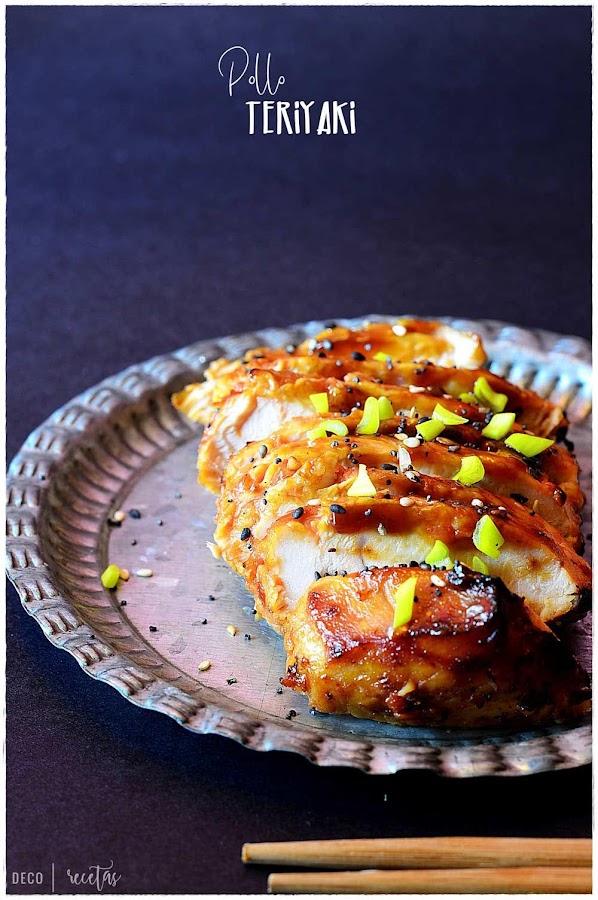 Pollo con salsa teriyaki