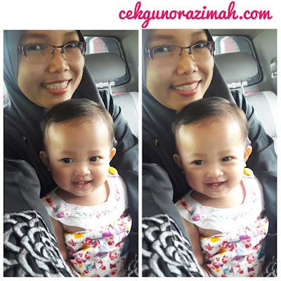 dhia zahra, bayi comel, bayi setahun, bayi 13 bulan, bayi gigi comel