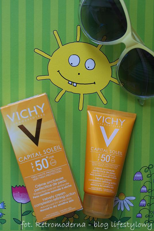 Dobry krem matujący z filtrem 50+ - Vichy Capitan Soleil
